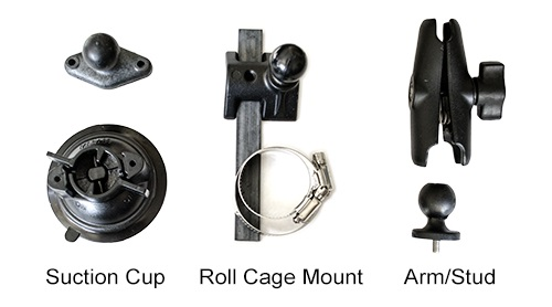 suction cup roll cage mounts for smartycam hd