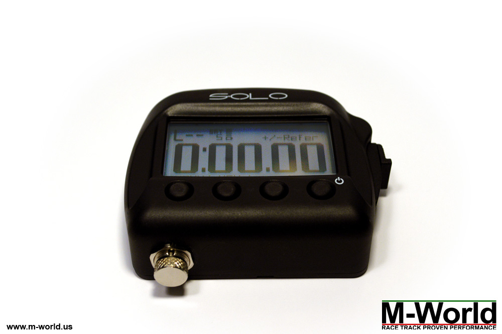 aim solo data logger lap timer front view