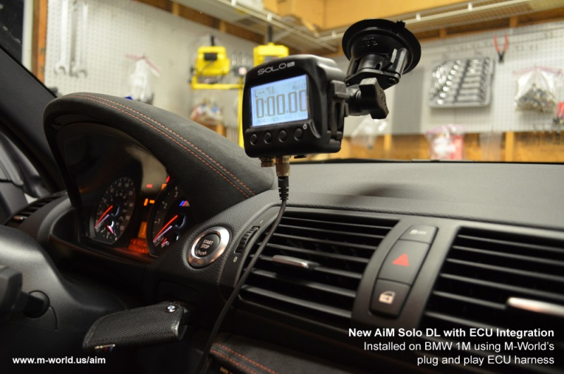 aim solo dl installed in bmw 1m using plug and play harness