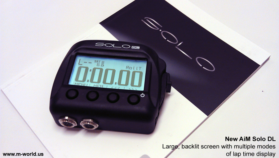 aim solo dl data logger lap timer with manual